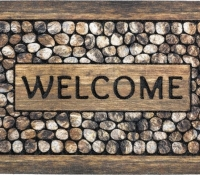 zerbini_eco_master_welcome_framed_pebbles