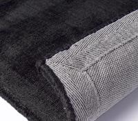 plain-colour-rug-trendy-shiny-black-1